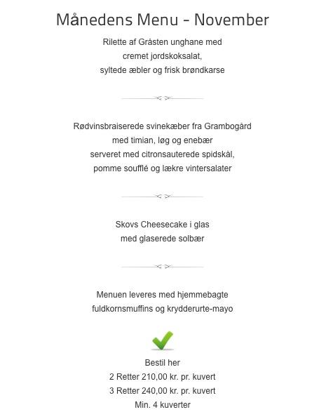 Lækker menu fra Skov og Stubbs